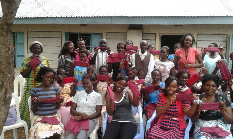 TVT takes Production of Reusable Sanitary Pads to Bondo, Kisumu